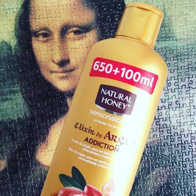 gel natural honey. Argan,