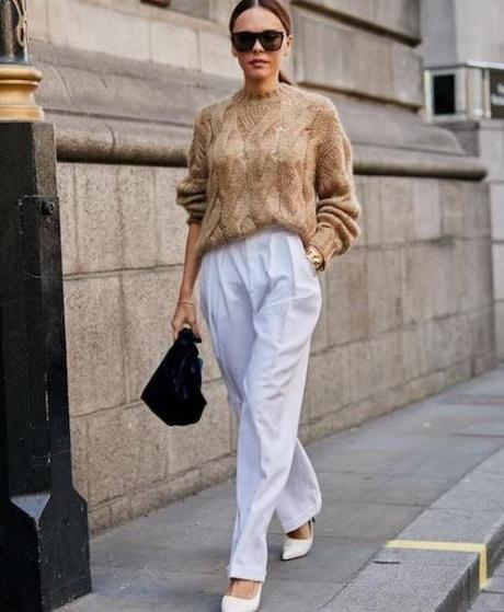 white shoes sweater