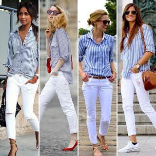 Street style (jeans blancos)