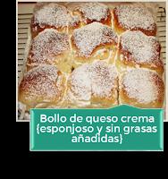 BOLLO DE QUESO CREMA MUY ESPONJOSO Y SIN GRASAS AÑADIDAS