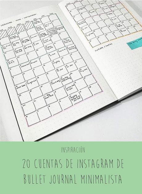 20 cuentas de Instagram sobre Bullet Journal minimalista