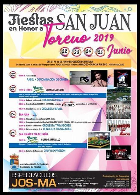 Toreno celebra las fiestas de San Juan 2019 a lo grande