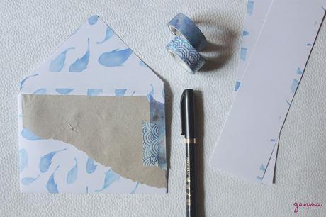 DIY+Freebie: Sobres veraniegos para Snail mail