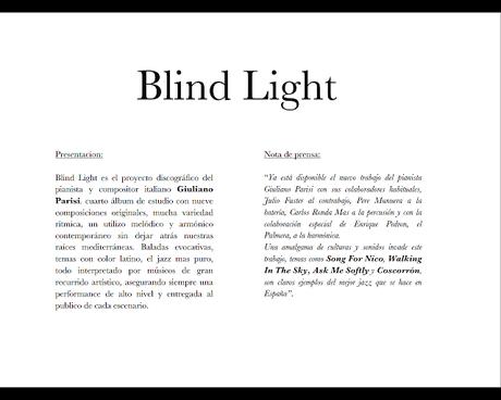 """¿Qué es el Bop Mediterráneo?  Giuliano Parisi: """"Blind Light"""""""