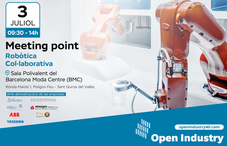 La comunidad Open Industry 4.0 organiza un Meeting Point dedicado a la robótica colaborativa