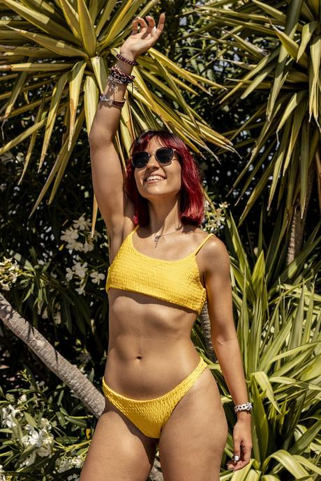 YELLOW SHEIN SWIMWEAR