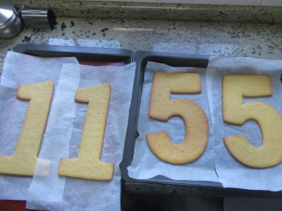 Tarta de números o letras Thermomix