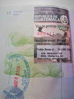 Prórroga de visa de turista de Guatemala