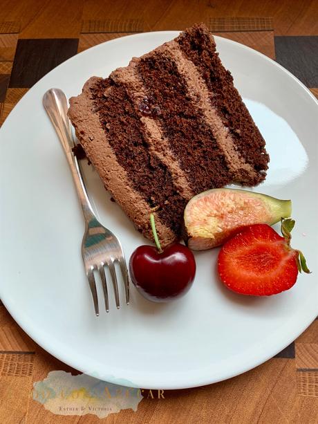 Tarta de chocolate y café.