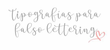 Tipografias lettering para ordenador II