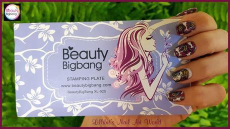 Manicura con la placa XL-025 de Beauty BigBang