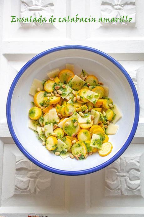 Ensalada de calabacin amarillo