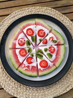 Pizza de sandía - Merienda saludable