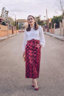 Red Snake skirt