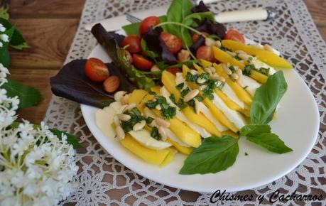 Ensalada de verano de mozzarella y mango