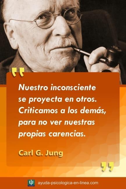 frase Jung proyección inconsciente