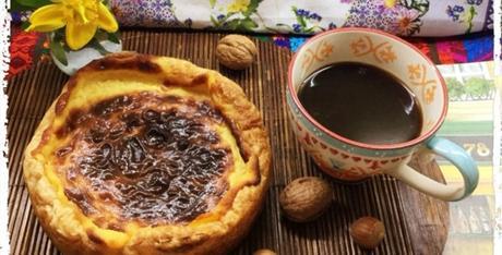 Flan parisién con mermelada de cereza
