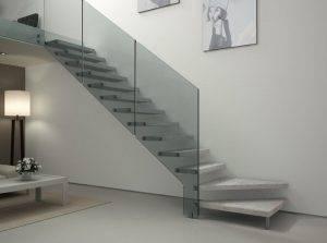Escaleras de cristal: mantenimiento y limpieza