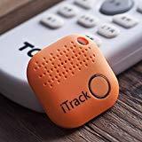 A&C Buscador de Llave, Anti perdida Mini Localizador y Rastreador Alarma para Buscar o Perseguir Carteras/Monedero/Niños/Mascotas/Llaves/Teléfono para iOS/Android (Orange)