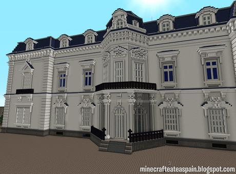 Réplica Minecraft del Palacio de Aiete, Donostia, España.