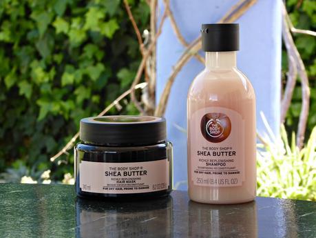 Champú y mascarilla de karité de The Body Shop. Shea butter for dry hair
