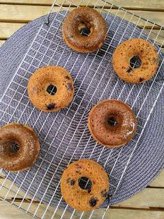 Donuts integrales de arándanos - Veganos