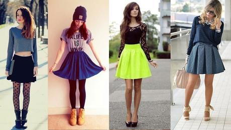 10+ outfits con faldas cortas