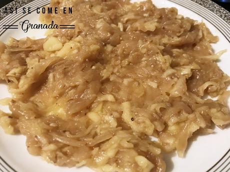 Tarta de cebolla, manzana y queso cabra sin gluten