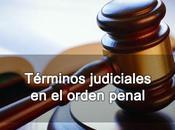 Términos judiciales orden penal