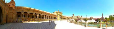 Panoramica de la Plaza de España en Sevilla