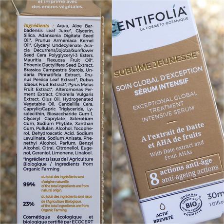 Centifolia, cosmética ecológica de calidad. Crema hidratante y sérum efecto flash instantáneo