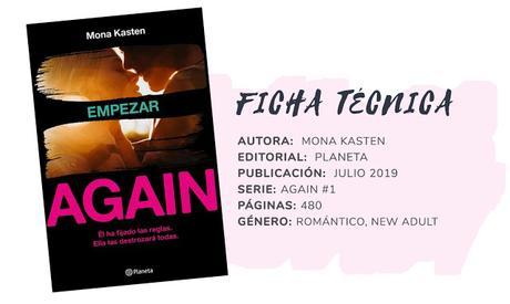 Reseña: EMPEZAR (AGAIN #1) - Mona Kasten