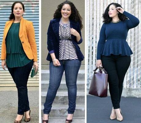 10+ Outfits con blazer para gorditas