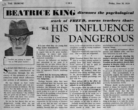 Crítica al padre del psicoanálisis