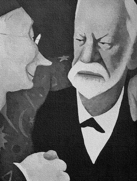 Caricatura Freud y el ocultismo