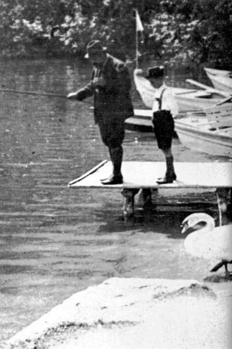Freud pescando con su hijo