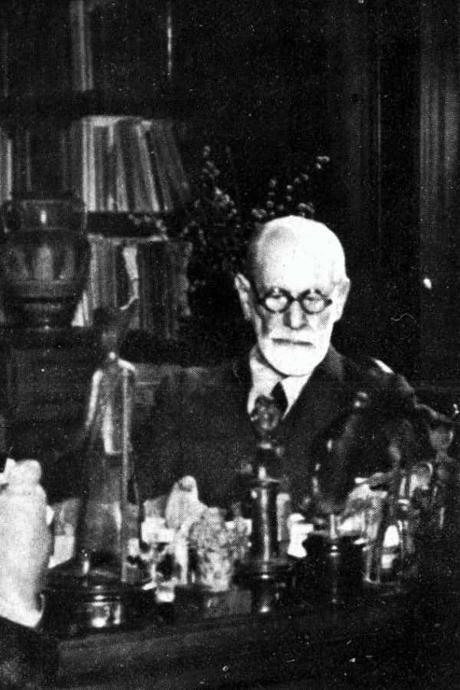 Freud estudiando