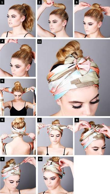 Como hacerte peinados con pañuelos