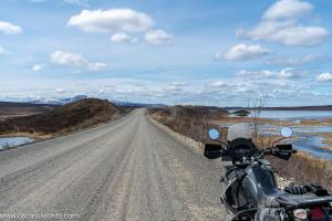 Alaska en moto. Ruta por la Denali Highway.