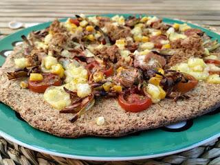 Pizza con masa de brócoli - Sin leche, sin huevo, sin gluten