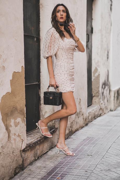 vestido drapeado zara