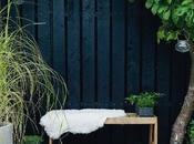ideas para aplicar color negro jardín