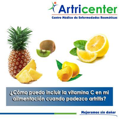 Artricenter: ¿Cómo puedo incluir la vitamina C en mi alimentación cuando padezco artritis?
