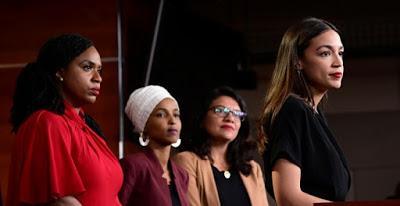 """""""Escuadrón"""" contra Trump: cuatro mujeres valientes que quieren cambiar el rumbo de EEUU."""