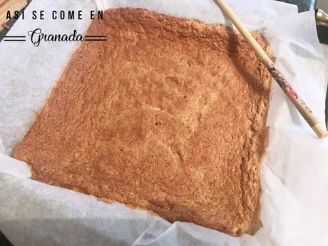 Poke cake de naranja y chocolate