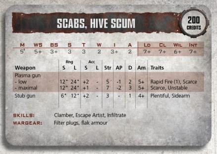 Kal Jerico y Scabs: Comentado sus perfiles y reglas