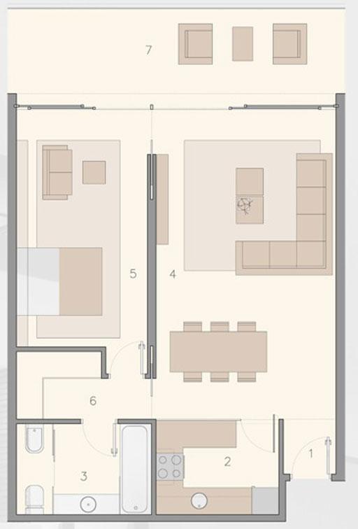A cero dise o de viviendas desarrollado en el master plan for Dormitorio 11m2