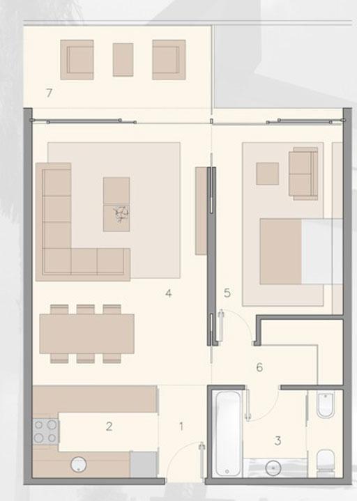 A cero dise o de viviendas desarrollado en el master plan for Plano de cocina de 9m2