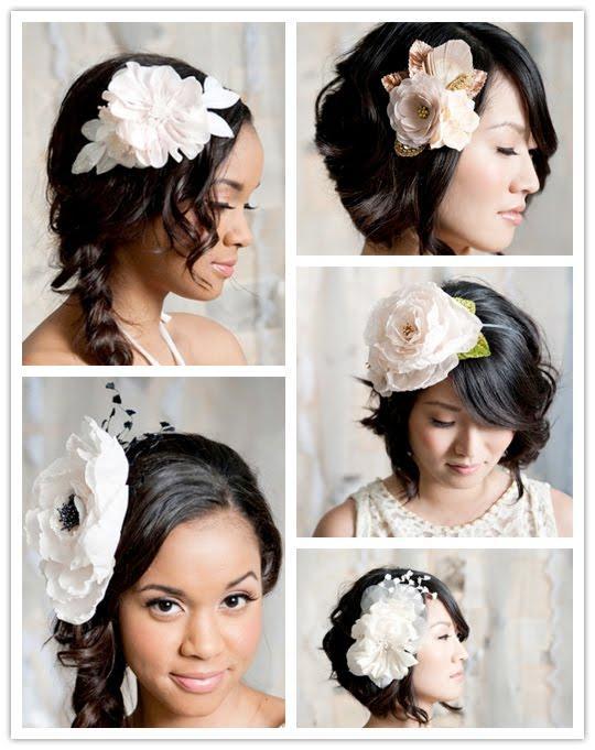 Tocados de flores grandes para novias paperblog for Decoraciones para el pelo