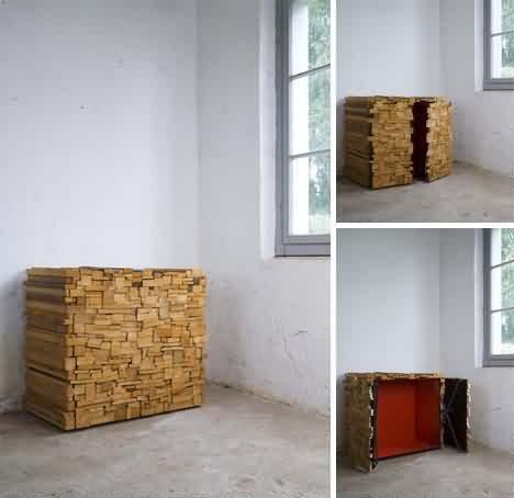 Las misteriosas pilas de madera convertibles en muebles - Muebles convertibles ...